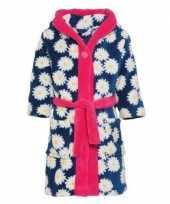 Blauw roze badjas ochtendjas margriet bloemengoedkope kinderen