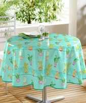 Buiten tafelkleed tafelzeil turquoise cactussen goedkope ron