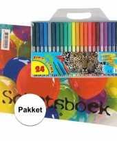 Goedkope a schetsboek inclusief viltstiften