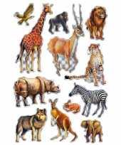 Goedkope afrikaanse dieren stickers vel