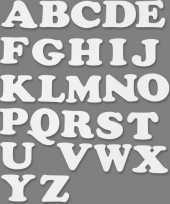 Goedkope alfabet wit karton sets