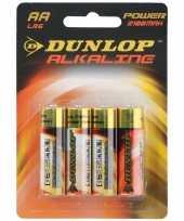 Goedkope alkaline batterijen lr aa dunlop stuks