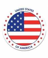 Goedkope amerika sticker rond