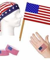 Goedkope amerika usa thema verkleed set volwassenen
