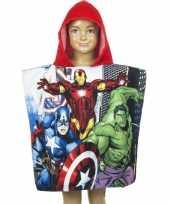 Goedkope avengers badcape rood kinderen
