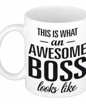 Goedkope awesome boss cadeau mok beker baas