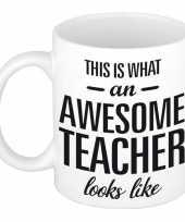 Goedkope awesome teacher cadeau mok beker juf meester
