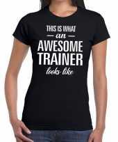 Goedkope awesome trainer cadeau t-shirt zwart dames