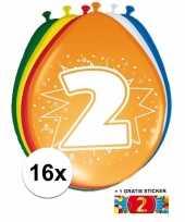 Goedkope ballonnen jaar stuks gratis sticker 10084690