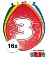 Goedkope ballonnen jaar stuks gratis sticker 10084692