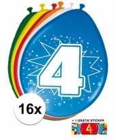 Goedkope ballonnen jaar stuks gratis sticker 10084693
