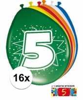 Goedkope ballonnen jaar stuks gratis sticker 10084695