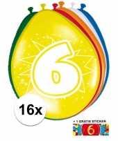 Goedkope ballonnen jaar stuks gratis sticker 10084696