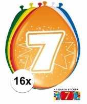 Goedkope ballonnen jaar stuks gratis sticker 10084698