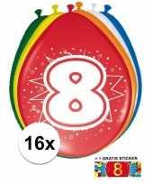 Goedkope ballonnen jaar stuks gratis sticker 10084699