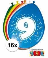 Goedkope ballonnen jaar stuks gratis sticker 10084700