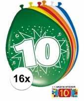 Goedkope ballonnen jaar stuks gratis sticker 10084701