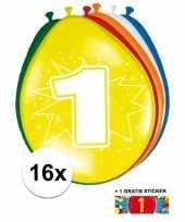 Goedkope ballonnen jaar stuks gratis sticker