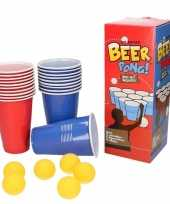 Goedkope beer pong set red blue cups 10053607