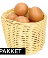 Goedkope beige paasmandje eieren naturel