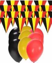 Goedkope belgie supporter versiering slingers meter ballonnen