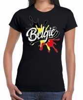 Goedkope belgie t-shirt spetter zwart dames