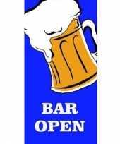 Goedkope bier vlag bar open