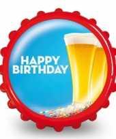 Goedkope bierdop flesopener happy birthday