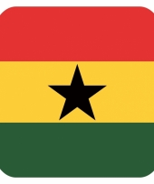 Goedkope bierviltjes ghanese vlag vierkant st