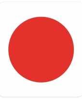 Goedkope bierviltjes japanse vlag vierkant st