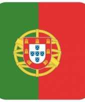 Goedkope bierviltjes portugese vlag vierkant st