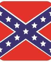 Goedkope bierviltjes zuidelijke staten vlag vierkant st