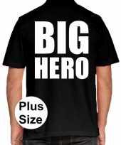 Goedkope big hero grote maten poloshirt zwart heren