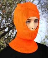 Goedkope bivakmuts oranje eengaats