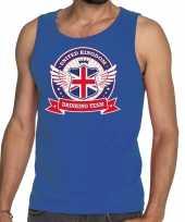 Goedkope blauw engeland drinking team tanktop mouwloos shirt heren