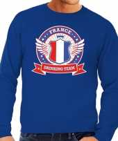 Goedkope blauw france drinking team sweater heren
