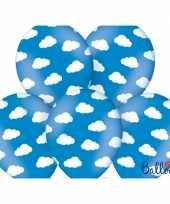 Goedkope blauwe ballonnen wolkjes