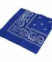 Goedkope blauwe boeren zakdoek