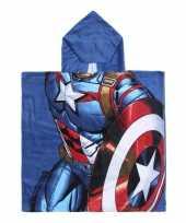 Goedkope blauwe marvel captain america badcape capuchon jongens