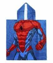 Goedkope blauwe marvel spiderman badcape capuchon jongens