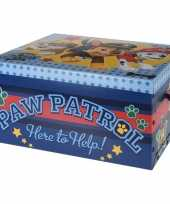 Goedkope blauwe opbergbox opbergdoos paw patrol