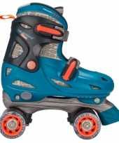 Goedkope blauwe verstelbare rolschaatsen maat