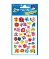 Goedkope bloemen stickers vellen