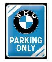 Goedkope bmw parking only bord blauw