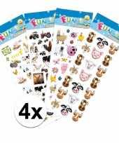 Goedkope boerderij thema kinder stickers pakket