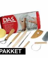 Goedkope boetseer basis pakket witte klei gereedschap