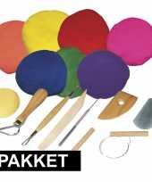 Goedkope boetseren klei pakket gekleurde klei gereedschap