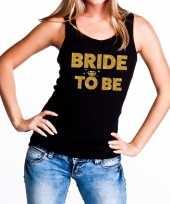 Goedkope bride to be gouden vrijgezellenfeest tanktop mouwloos shirt zw
