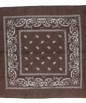 Goedkope bruine bandana zakdoek