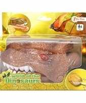 Goedkope bruine dinosaurus bijtspel